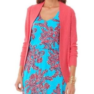 Lilly Pulitzer small pink Amalie open cardigan